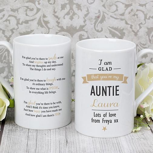 Personalised I Am Glad...Auntie Slim Mug