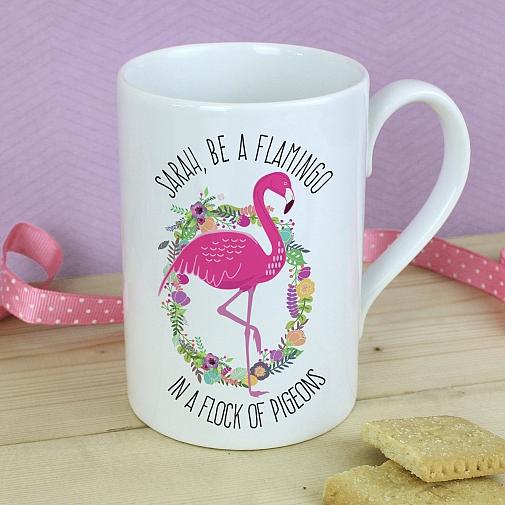 Personalised Flamingo Slim Mug