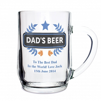 Personalised Blue Wheat Tankard