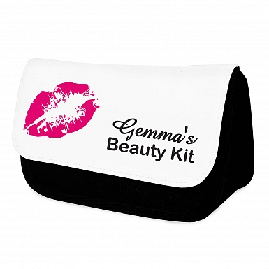 Personalised Lips Make Up Bag