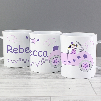 Personalised Little Princess in Car Plastic Cup