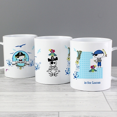 Personalised Pirate Plastic Cup