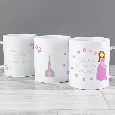 Personalised Fabulous Flowergirl Plastic Cup