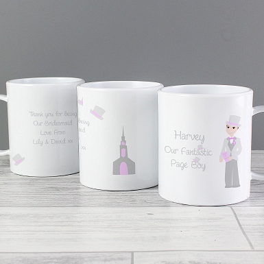 Personalised Fabulous Pageboy Plastic Cup