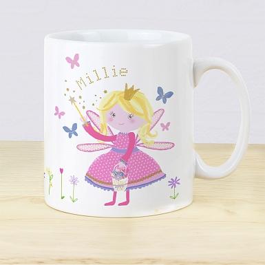 Personalised Garden Fairy Plastic Mug
