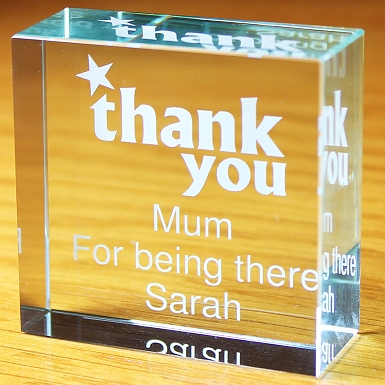 Personalised Thank you Medium Crystal Token