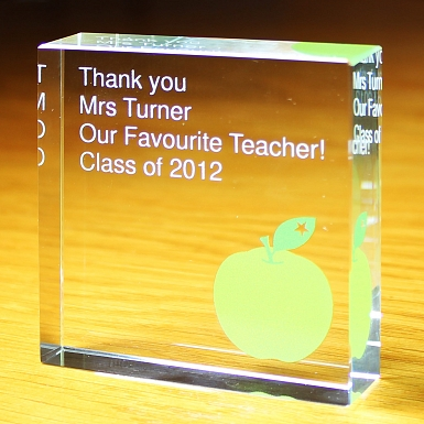 Personalised Teacher Large Crystal Token