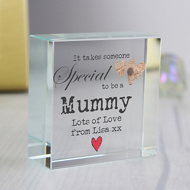 Personalised Someone Special Medium Crystal Token