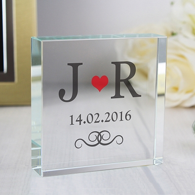Personalised Red Monogram Large Crystal Token