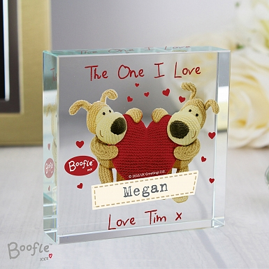 Personalised Boofle Shared Heart Large Crystal Token UK [United Kingdom]