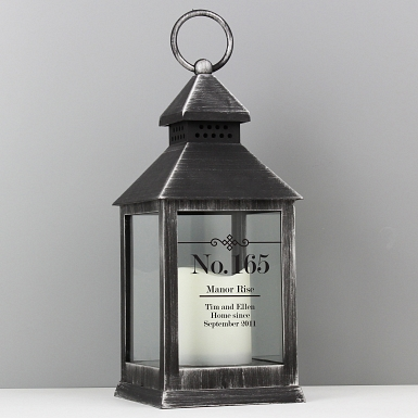 Personalised Elegant Diamond Rustic Black Lantern delivery to UK [United Kingdom]
