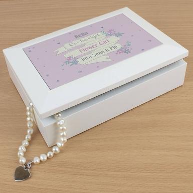 Personalised Garden Bloom Jewellery Box