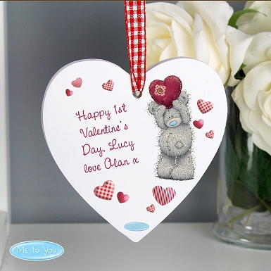 Personalised Me To You Heart Wooden Decoration delivery to UK [United Kingdom]