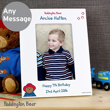 Personalised Paddington Bear 6x4 Photo Frame