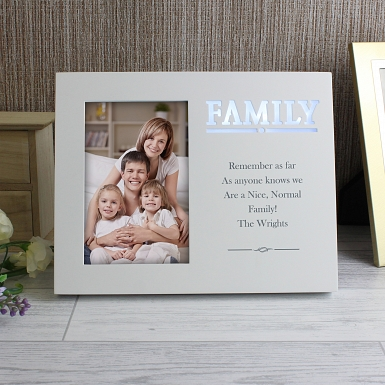 Personalised Family Any Message 6x4 Light Up Frame
