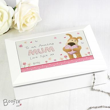 Personalised Boofle Flowers Jewellery Box