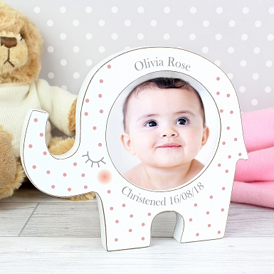 Personalised Spotty Elephant Photo Frame