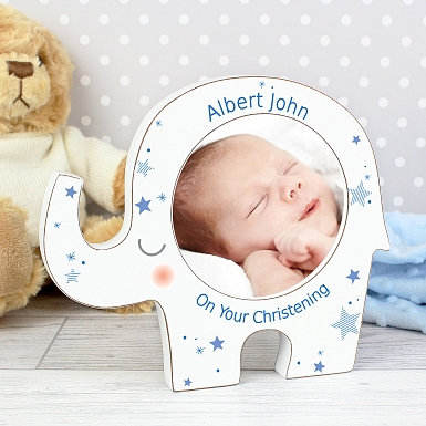 Personalised Stars Elephant Photo Frame