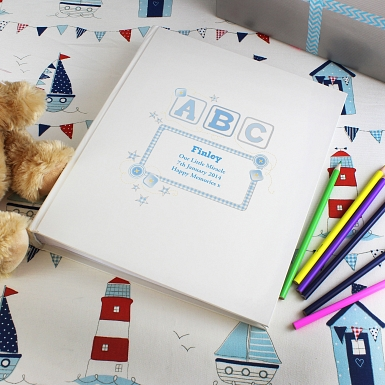 Personalised Blue ABC Traditional Album