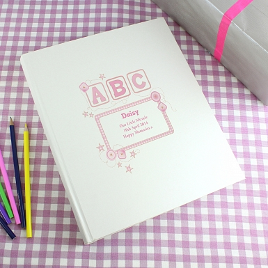 Personalised Pink ABC Traditional Album