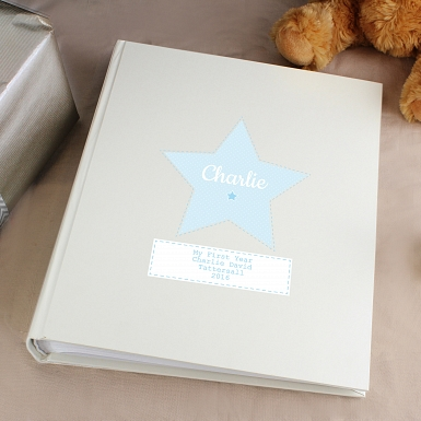 Personalised Stitch & Dot Boys Album with Sleeves