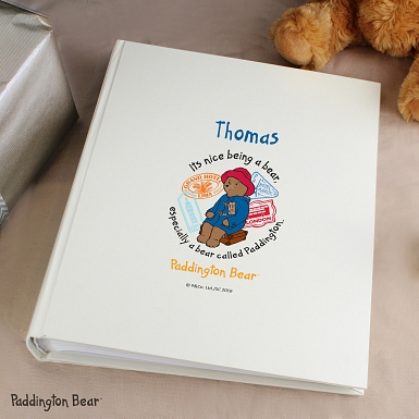 Personalised Paddington Bear Album with Sleeves