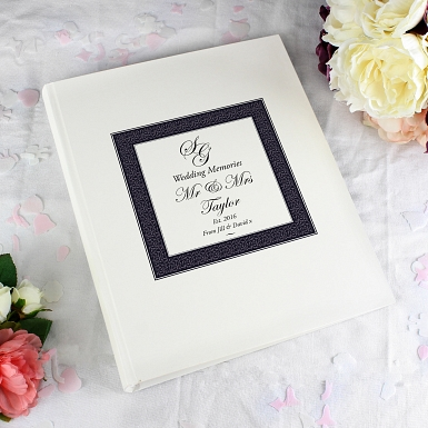 Personalised Ornate Monogram Traditional Album