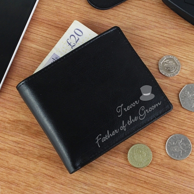 Personalised Top Hat Leather Wallet