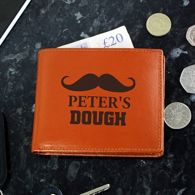 Brown Moustache Wallet