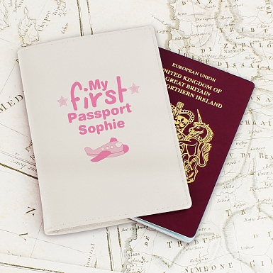 Personalised My First Cream Passport Holder
