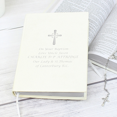 Personalised Silver Companion Holy Bible - Eco-friendly