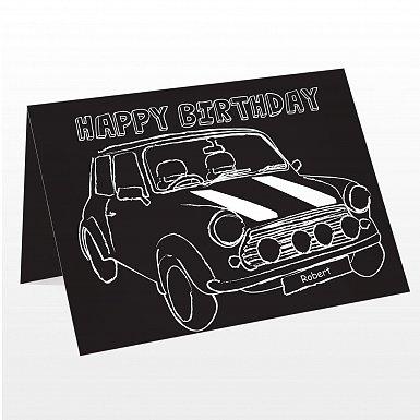 Personalised Black & White Mini Card