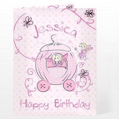 Personalised Pumpkin Princess Card