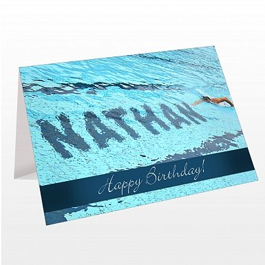 Personalised Swimmer Card