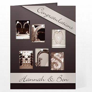 Personalised Affection Art Mr & Mrs Card
