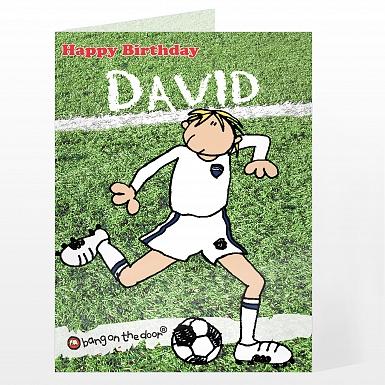 Personalised Bang On The Door Footballer Card