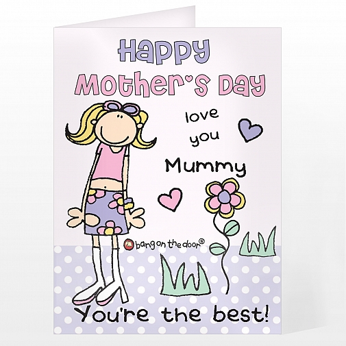 Personalised Bang On The Door Mother's Day Card