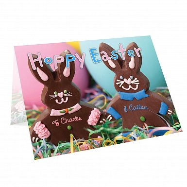 Personalised Milk Chocolates Bunny Card