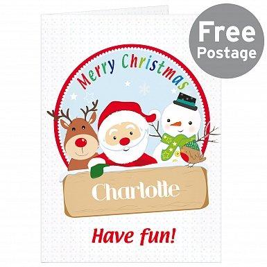 Personalised Santa & Friends Card