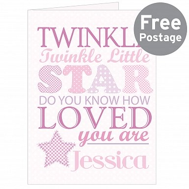 Personalised Twinkle Girls Card
