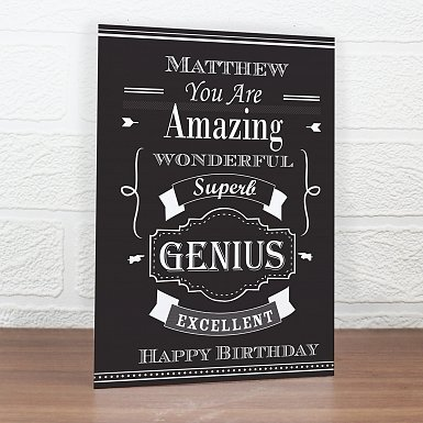 Personalised Vintage Typography Card