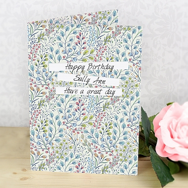 Personalised Botanical Card