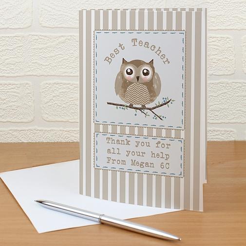 Personalised Woodland Owl Card
