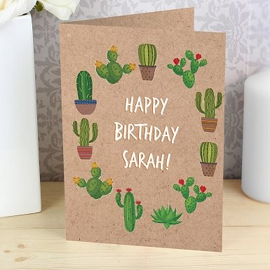Personalised Cactus Card delivery to UK [United Kingdom]
