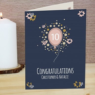 Personalised Rose Gold Balloon Card