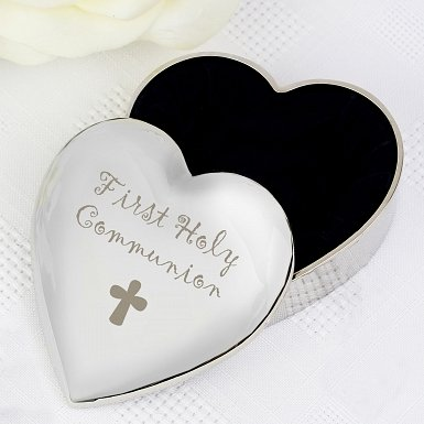 1st Holy Communion Heart Trinket Box