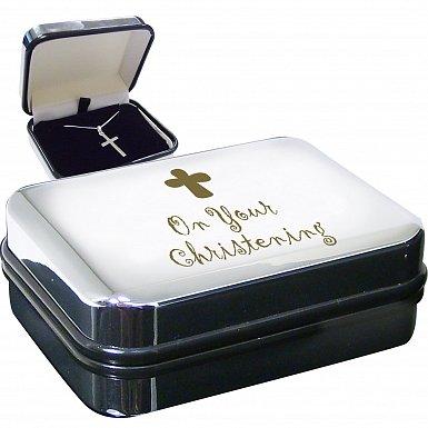 Christening Cross Necklace Box
