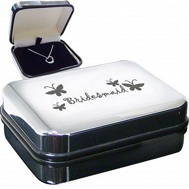 Bridesmaid Heart Necklace Box