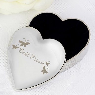Best Friend Heart Trinket Box