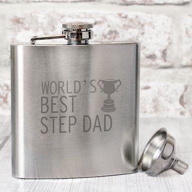 Worlds Best Step Dad  Hip Flask